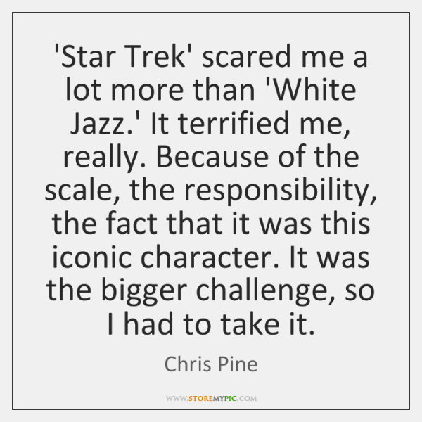 'Star Trek' scared me a lot more than 'White Jazz.' It ...