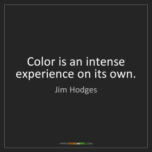 Jim Hodges: Color is an intense experience on its own.