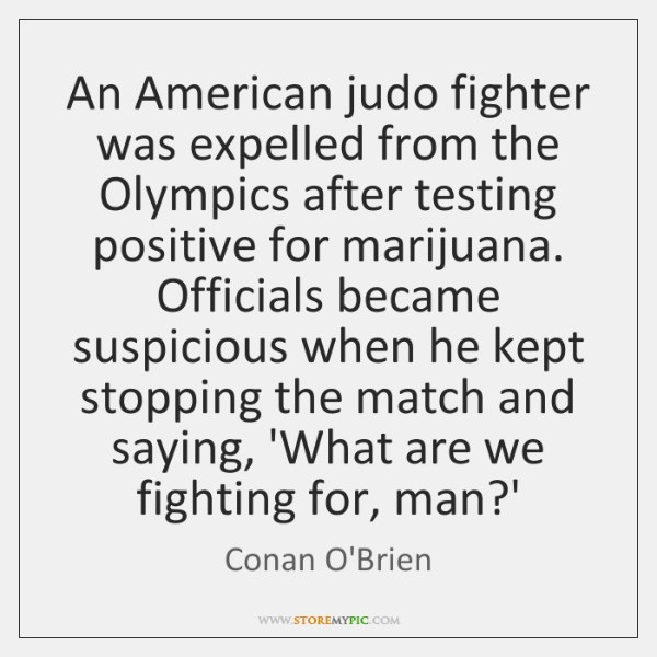 An American judo fighter was expelled from the Olympics after testing positive ...