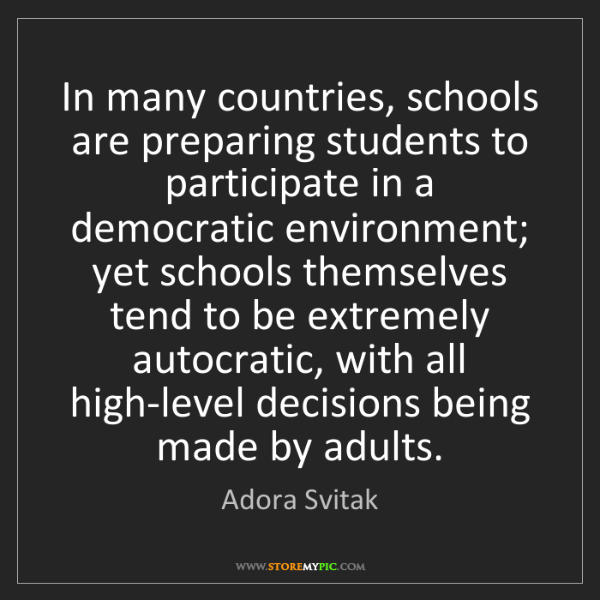 Adora Svitak: In many countries, schools are preparing students to...