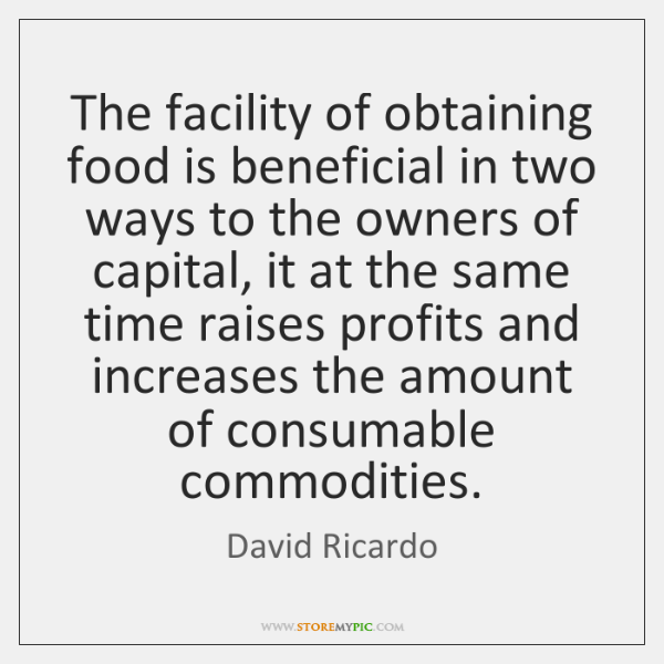 The facility of obtaining food is beneficial in two ways to the ...
