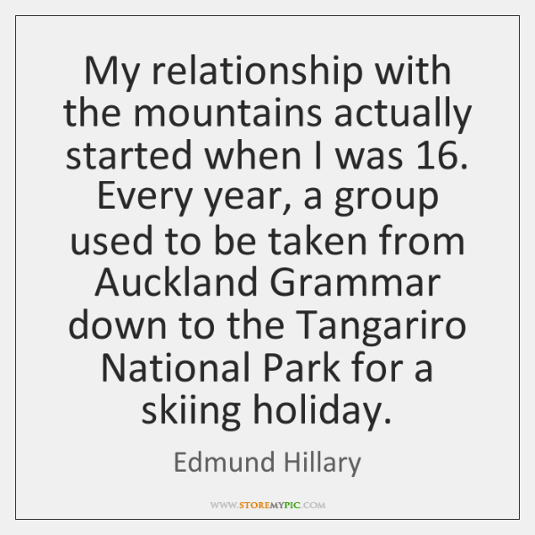 My relationship with the mountains actually started when I was 16. Every year, ...