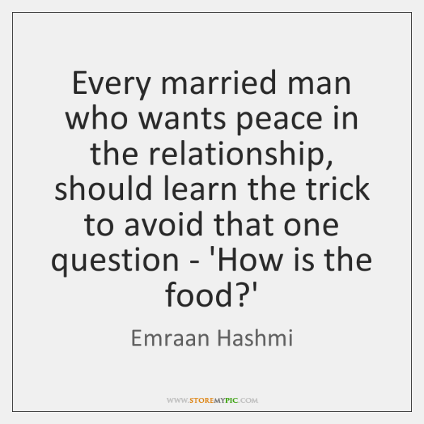 Every married man who wants peace in the relationship, should learn the ...