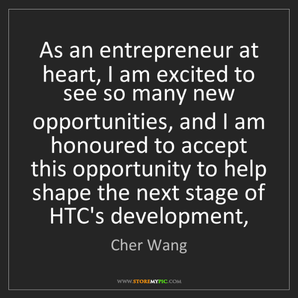 Cher Wang: As an entrepreneur at heart, I am excited to see so many...