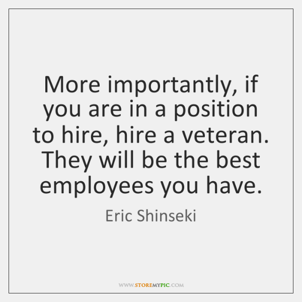 More importantly, if you are in a position to hire, hire a ...