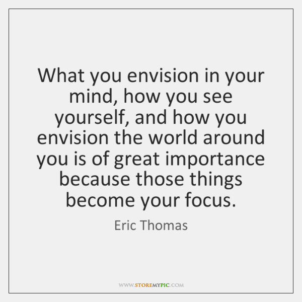 What you envision in your mind, how you see yourself, and how ...
