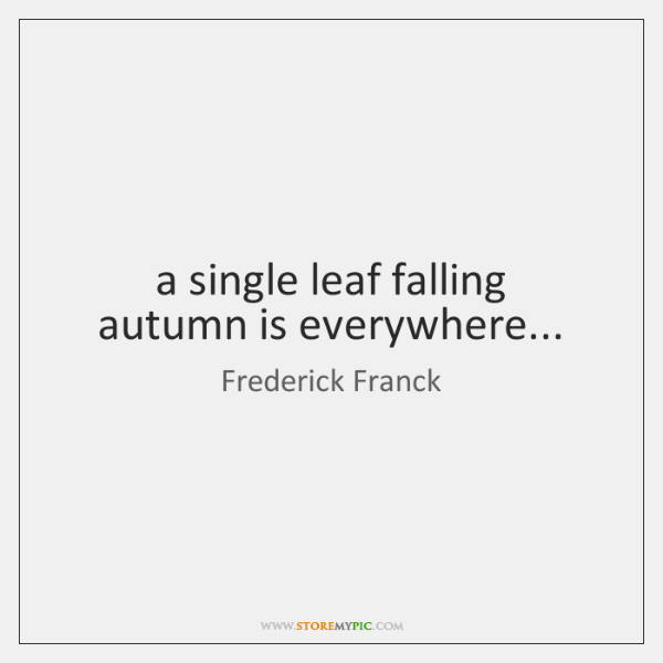 a single leaf falling   autumn is everywhere...