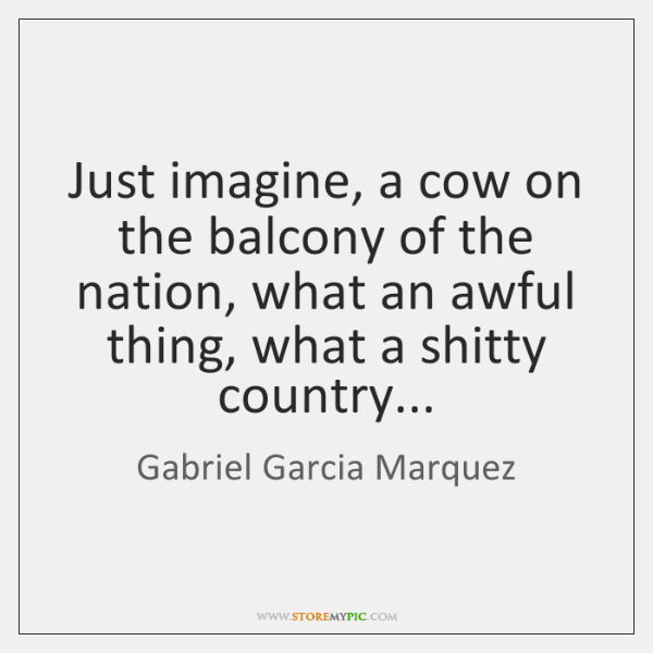 Just imagine, a cow on the balcony of the nation, what an ...