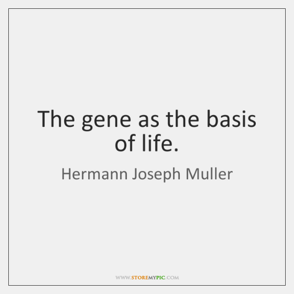 The gene as the basis of life.
