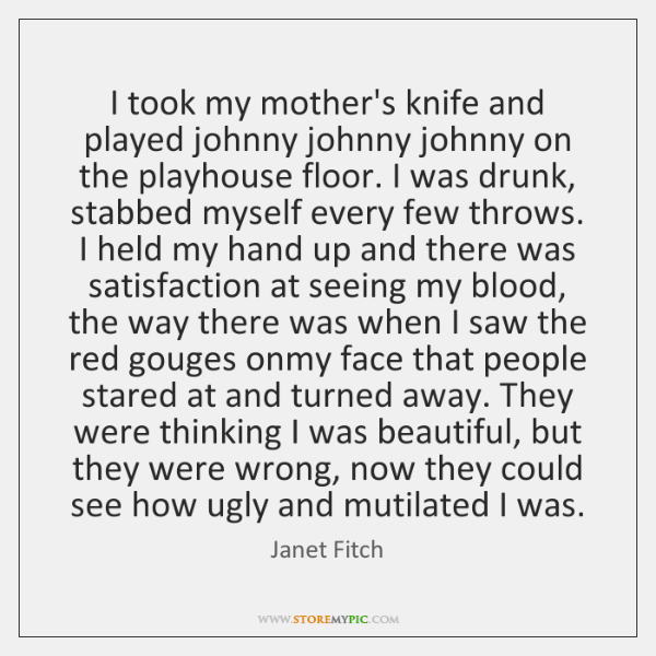 I took my mother's knife and played johnny johnny johnny on the ...
