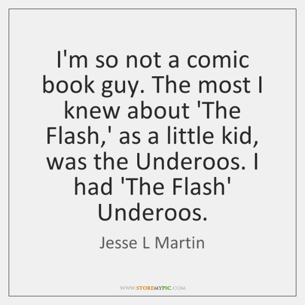 I'm so not a comic book guy. The most I knew about ...