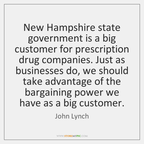 New Hampshire state government is a big customer for prescription drug companies. ...