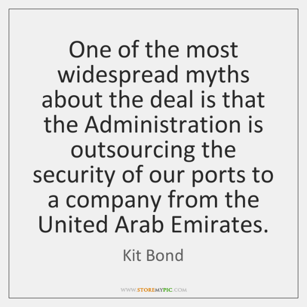One of the most widespread myths about the deal is that the ...