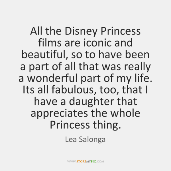 All the Disney Princess films are iconic and beautiful, so to have ...