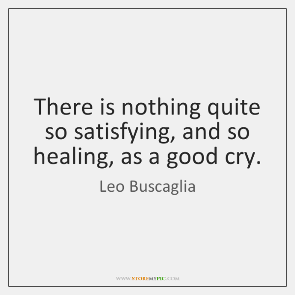 There is nothing quite so satisfying, and so healing, as a good ...