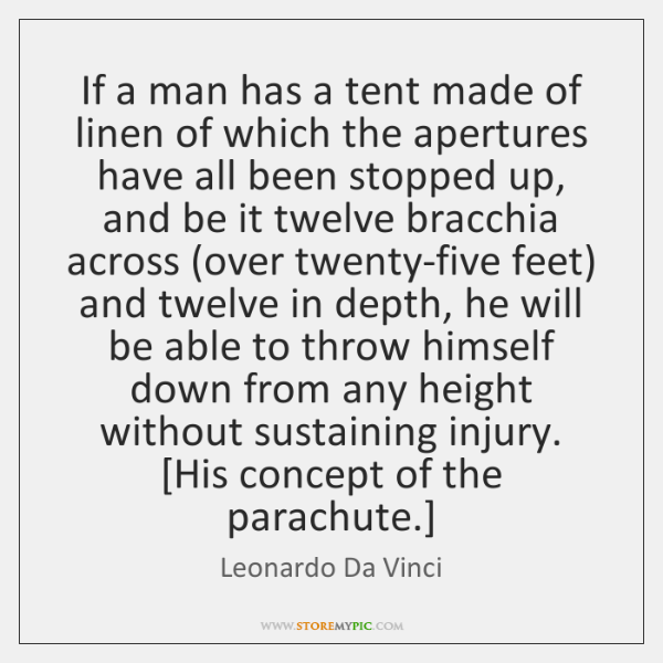 If a man has a tent made of linen of which the ...