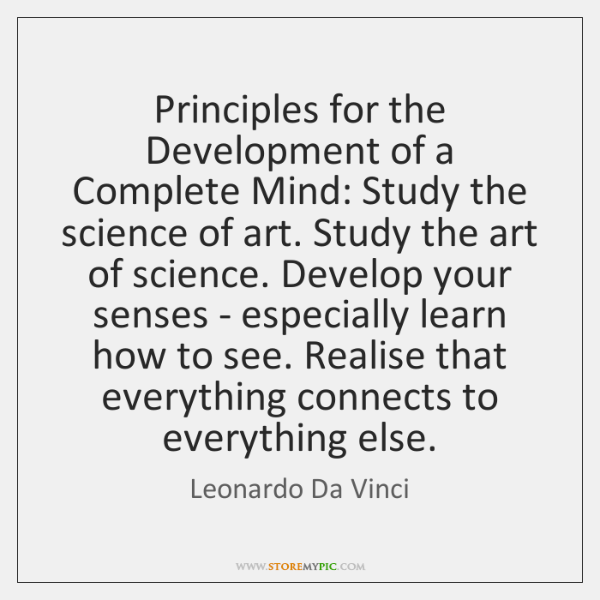 Principles for the Development of a Complete Mind: Study the science of ...