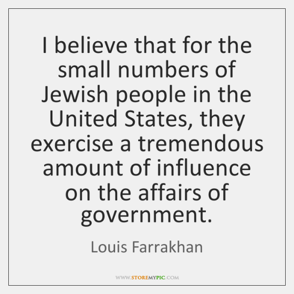 I believe that for the small numbers of Jewish people in the ...