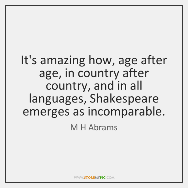 It's amazing how, age after age, in country after country, and in ...