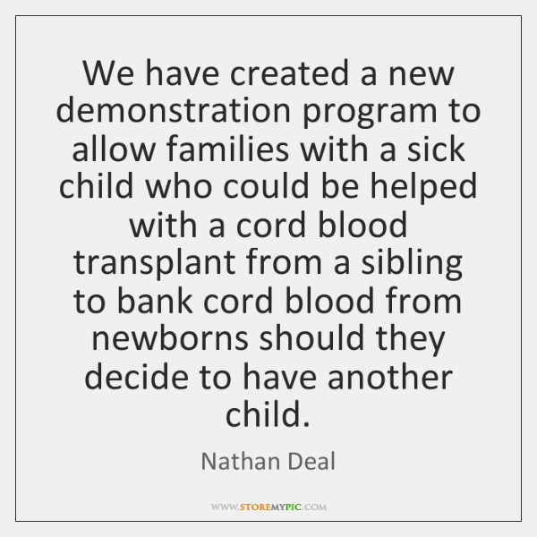 We have created a new demonstration program to allow families with a ...