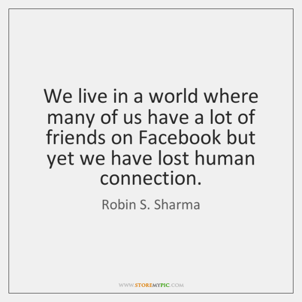 We live in a world where many of us have a lot ...