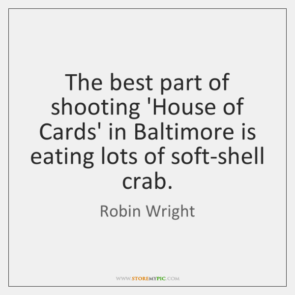 The best part of shooting 'House of Cards' in Baltimore is eating ...