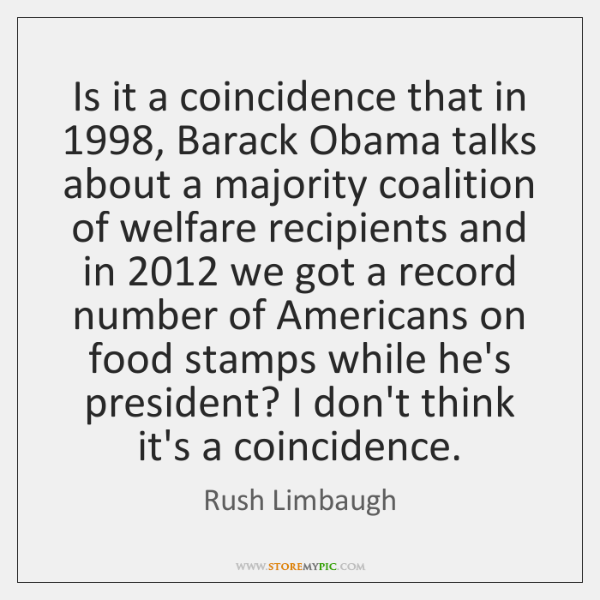 Is it a coincidence that in 1998, Barack Obama talks about a majority ...
