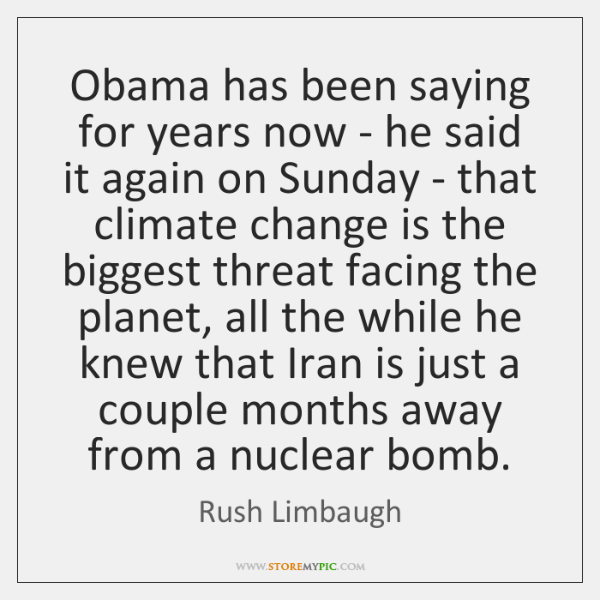 Obama has been saying for years now - he said it again ...