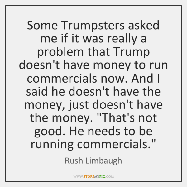 Some Trumpsters asked me if it was really a problem that Trump ...