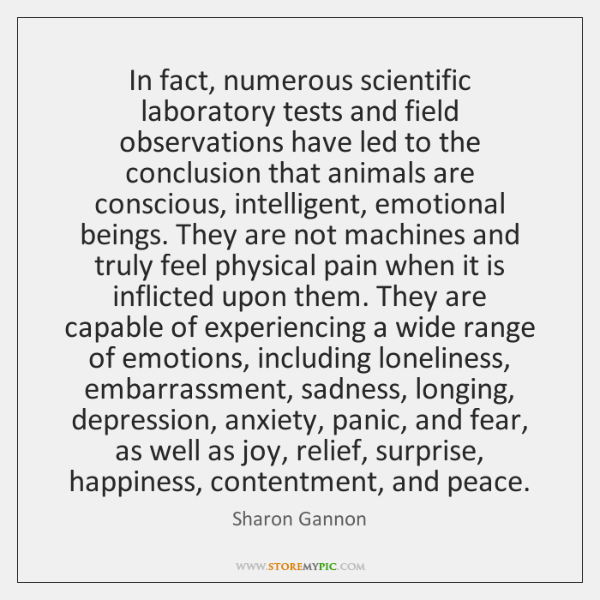 In fact, numerous scientific laboratory tests and field observations have led to ...