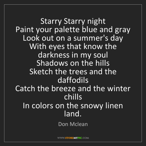 Starry Night Paint Your Palette Blue And Gray Look Out On A Summer S Day
