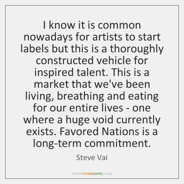 I know it is common nowadays for artists to start labels but ...