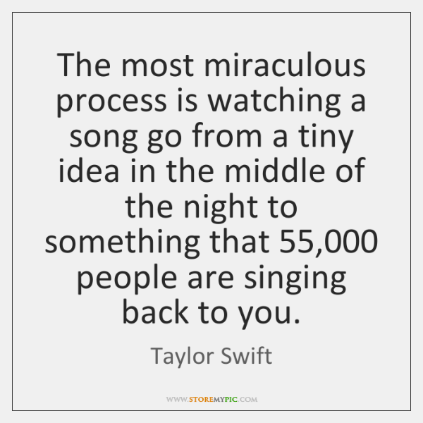 The most miraculous process is watching a song go from a tiny ...