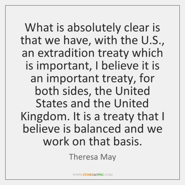 What is absolutely clear is that we have, with the U.S., ...