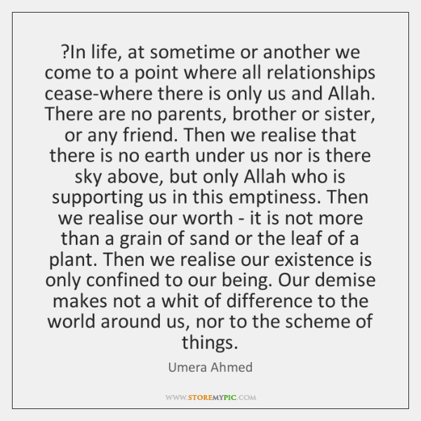?In life, at sometime or another we come to a point where ...