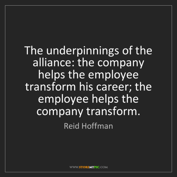 Reid Hoffman: The underpinnings of the alliance: the company helps...