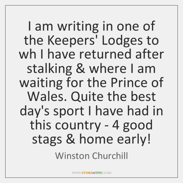 I am writing in one of the Keepers' Lodges to wh I ...