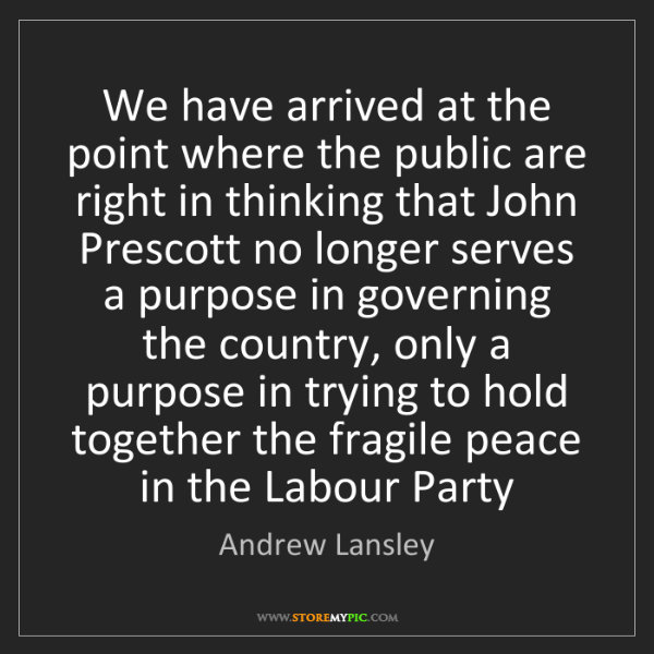 Andrew Lansley: We have arrived at the point where the public are right...