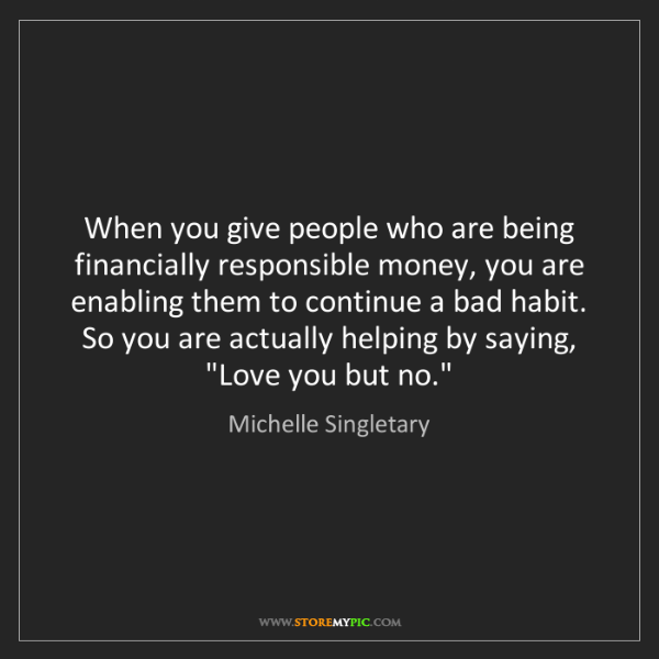 Michelle Singletary: When you give people who are being financially responsible...