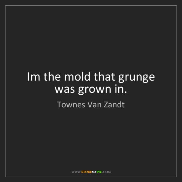 Townes Van Zandt: Im the mold that grunge was grown in.