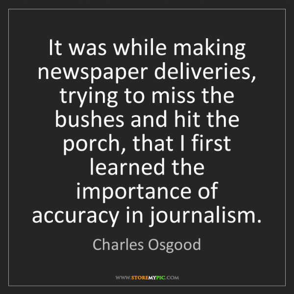 Charles Osgood: It was while making newspaper deliveries, trying to miss...
