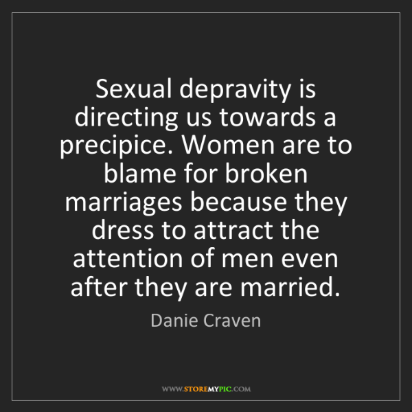 Danie Craven: Sexual depravity is directing us towards a precipice....