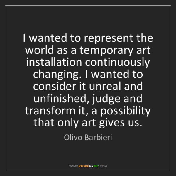 Olivo Barbieri: I wanted to represent the world as a temporary art installation...