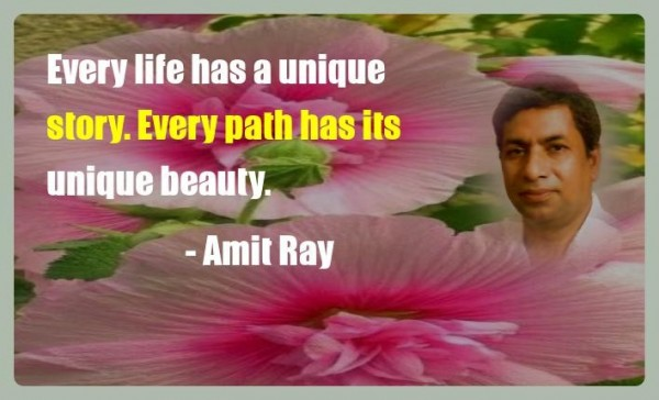 Every life has a unique story. Every path has its unique beauty. -- Amit Ray