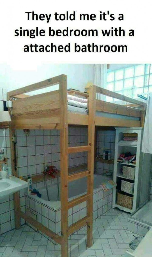single bedroom with attached bathroom