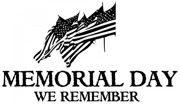 Memorial Day We Remember bw