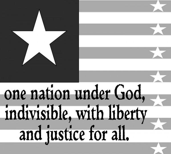 One nation under God bw