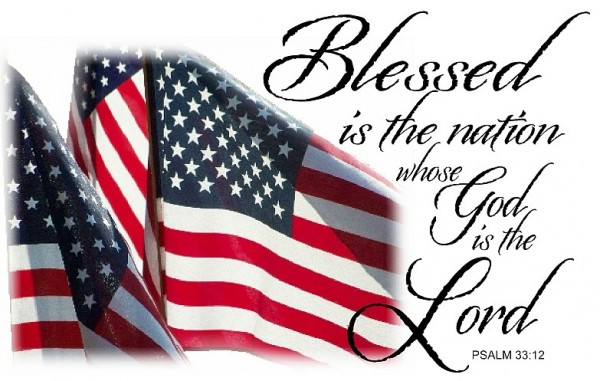Three flags and Psalm 33.12