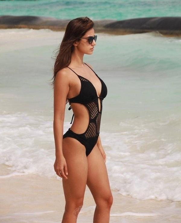 Disha Patani Hot in Black Bikini