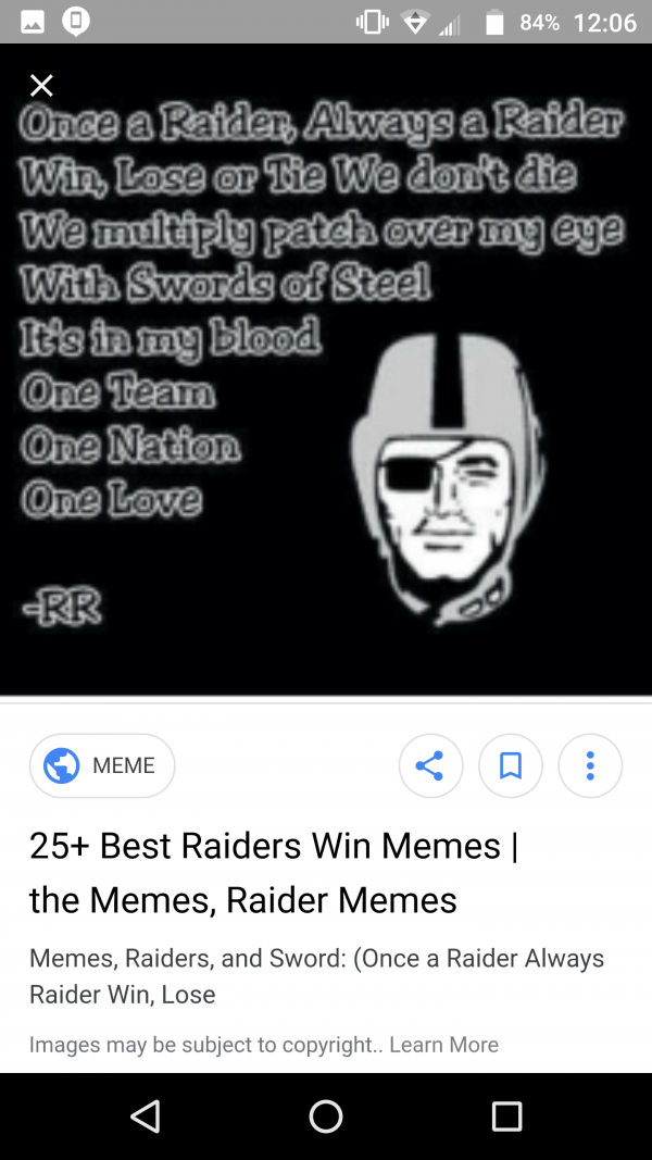Raiders all day everyday